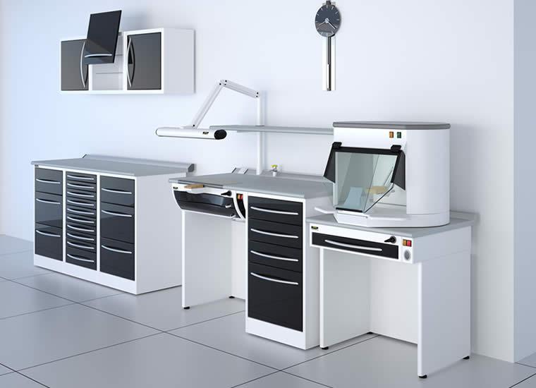 ... per studi dentistici, mobili per dentisti o laboratori odontotecnici