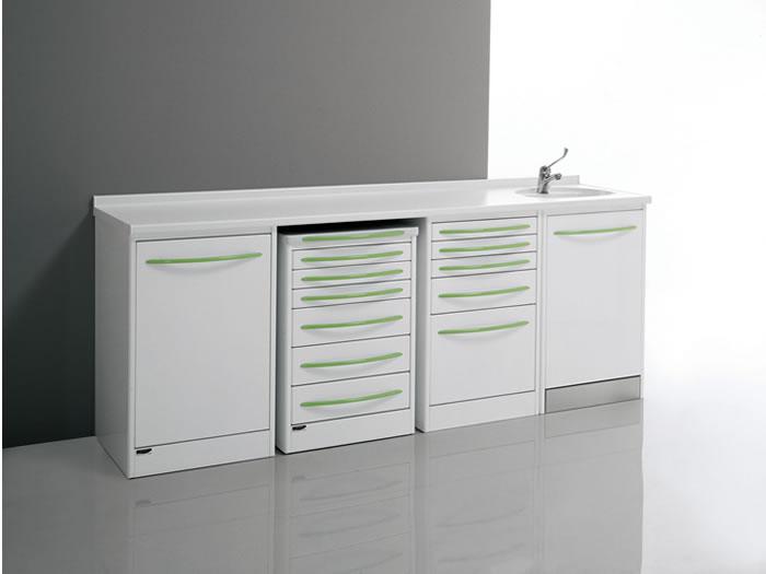 PACKAGE2  Serie composta da 4 mobili con vasca ceramica ...