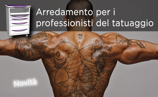 mobili per il professionista dei tatuaggi